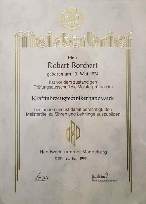Meisterbrief RB